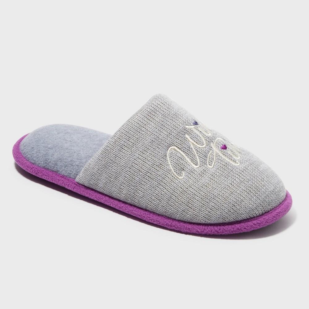 Women's Dearfoams Slide Slippers - Heather Grey S (5-6)