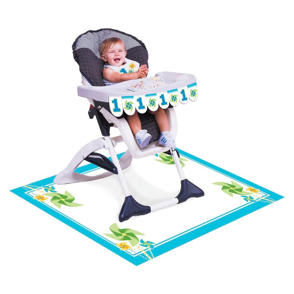 Turning One Boy High Chair Kit, each