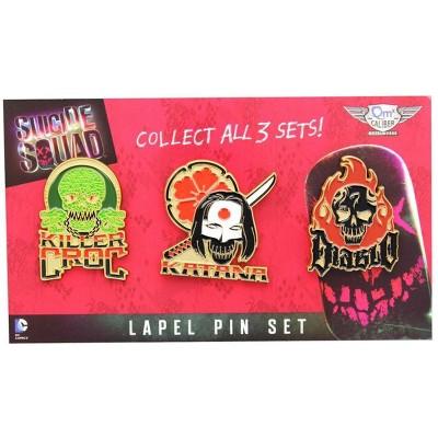 Quantum Mechanix Suicide Squad Lapel Pin 3-Pack, Set 2