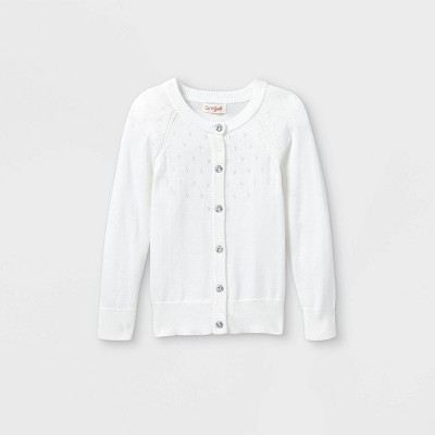 Toddler Girls' Knit Pointelle Cardigan - Cat & Jack™ White