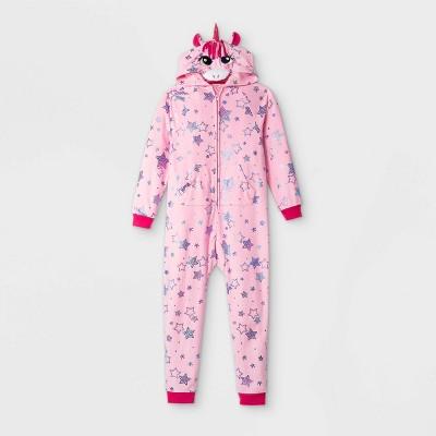 Girls' Unicorn Pajama Jumpsuit - Cat & Jack™ Pink