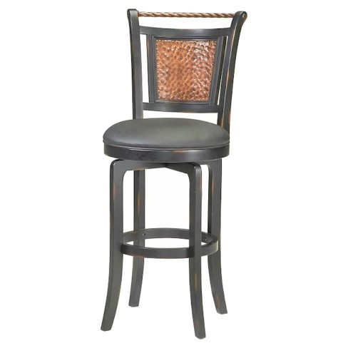 "Norwood Swivel 26.5"" Counter Stool Wood/Black - Hillsdale Furniture - image 1 of 1"