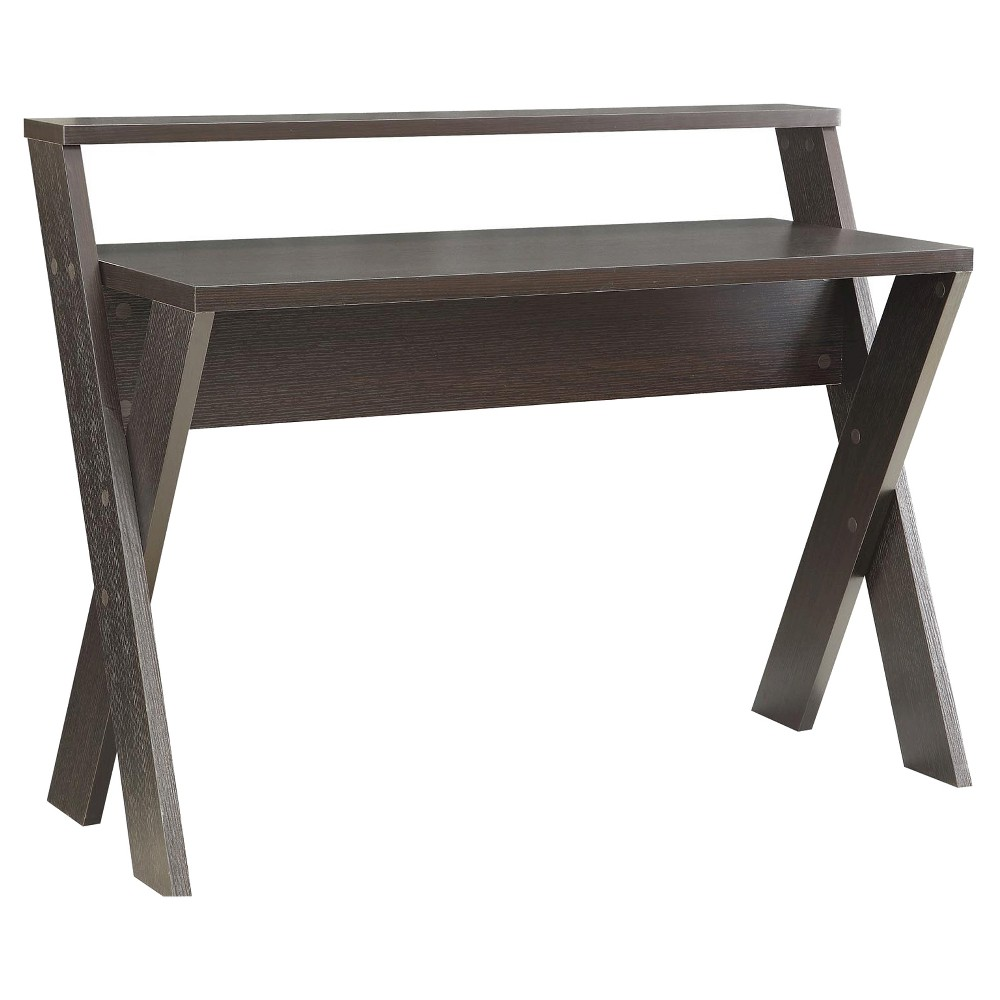 Newport Desk with Shelf Brown - Convenience Concepts