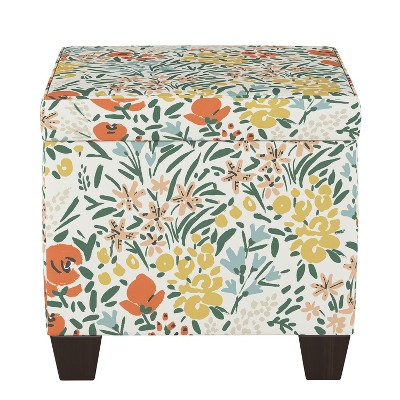 Storage Ottomans Cream Floral - Threshold™