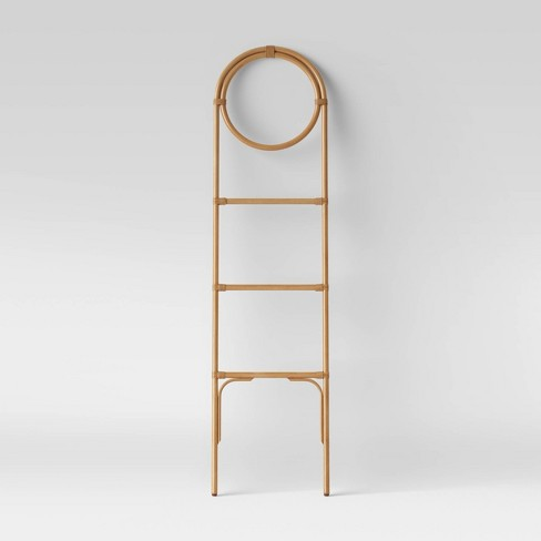 Rattan Leaning Towel Ladder Tan - Opalhouse™ - image 1 of 3