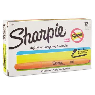 Sharpie Accent Pocket Style Highlighter Chisel Tip Fluorescent Orange Dozen 27006