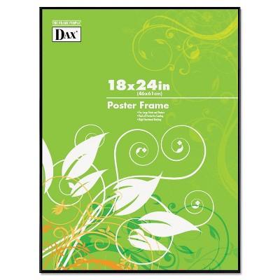 Dax Coloredge Poster Frame Clear Plastic Window 18 x 24 Black N16018BT