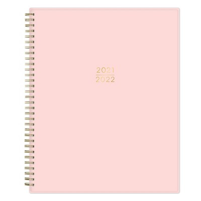 "2021-22 Academic Planner 8.5"" x 11"" Flexible Plastic Cover Wirebound Weekly/Monthly Petal Pink - Kelly Ventura"
