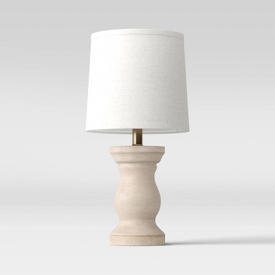 Traditional Wooden Accent Lamp (Includes LED Light Bulb)White - Threshold™