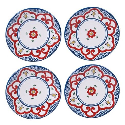 "6"" 4pk Earthenware Tangier Canape Plates White - Certified International - image 1 of 1"