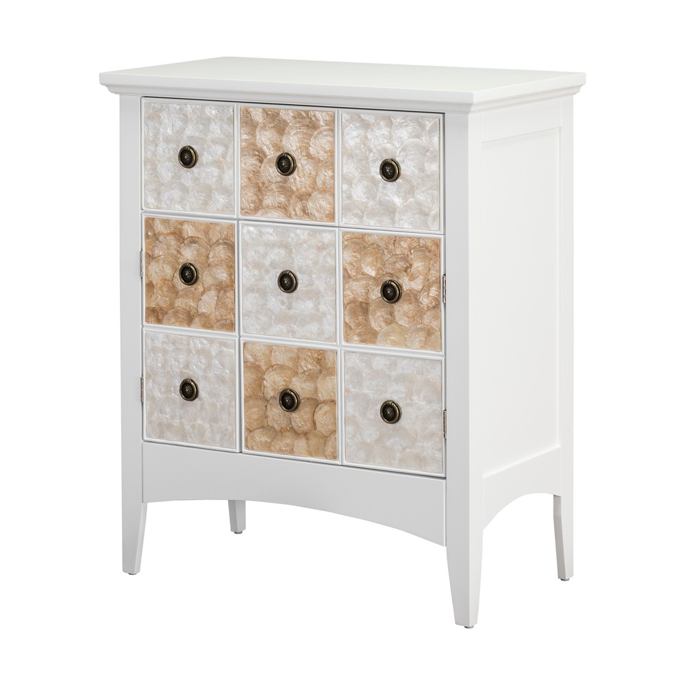 "Image of ""32"""" Durdle Accent Cabinet White - Elegant Home Fashions"""