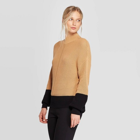 Women's Turtleneck Pullover Sweater - Who What Wear™ Brown - image 1 of 3