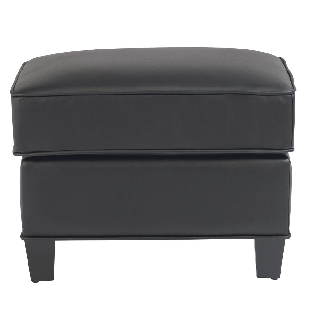 Taylor Upholstered Ottoman Black - Home Styles