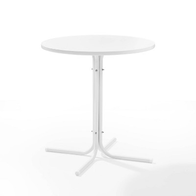 Griffith Outdoor Round Bistro Table - White - Crosley