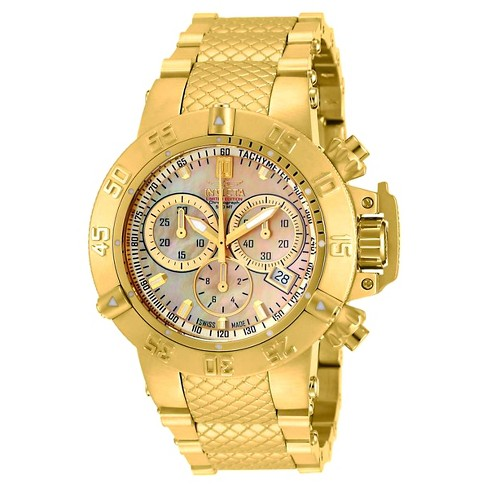 Women's Invicta 14597 Jason Taylor Quartz Chronograph Gold Dial Link Watch - Gold - image 1 of 1