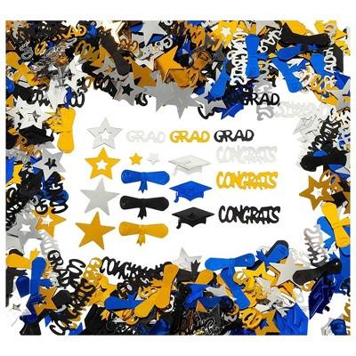 Mortarboard Die Cut Confetti Graduation Cap Confetti for Open House Party Decor Graduation Party Decorations Confetti