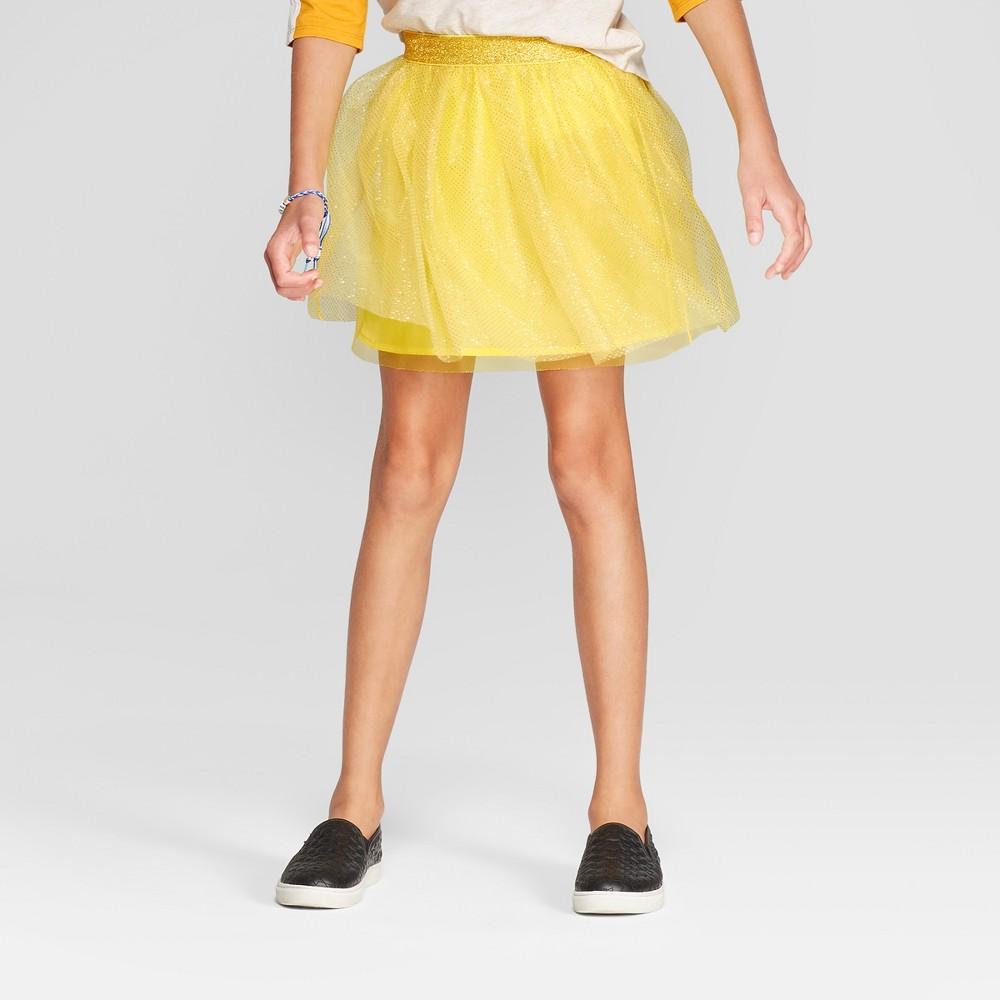 Girls' Tulle Tutu Skirt - Cat & Jack Yellow S