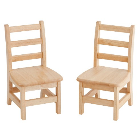 "Kids' 3 Rung Ladderback Chair Natural 14"" (Set of 2) - ECR4Kids - image 1 of 2"