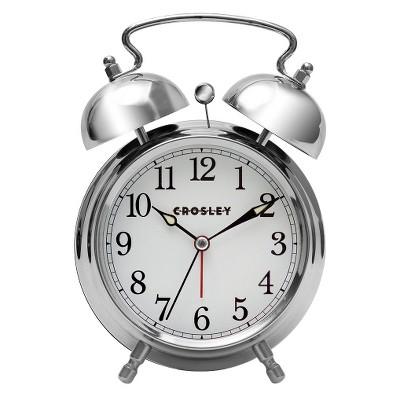 Analog Alarm Clock Silver - Crosley®