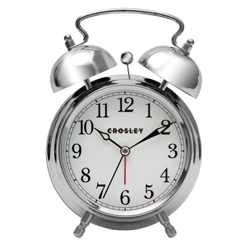 analog alarm clock silver crosley target