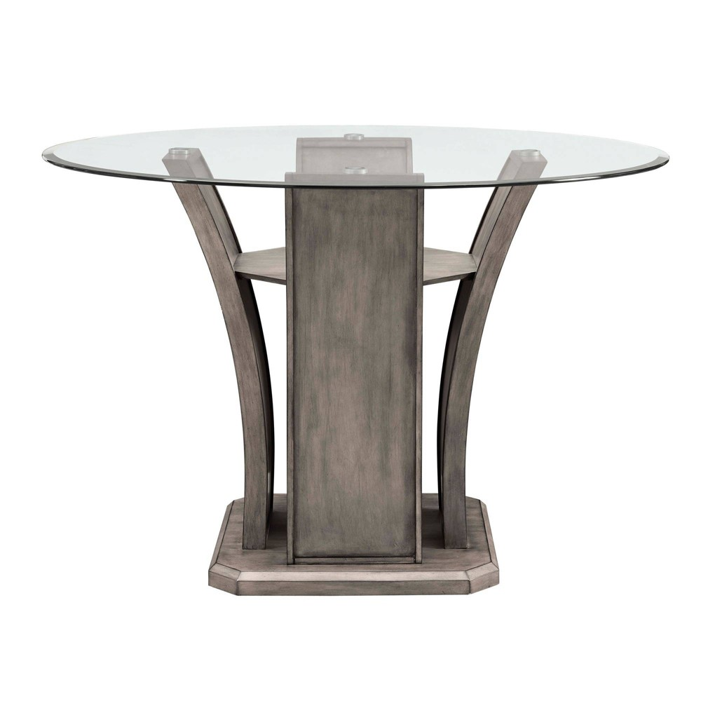 Dylan Round Counter Dining Table Gray Wash - Picket House Furnishings