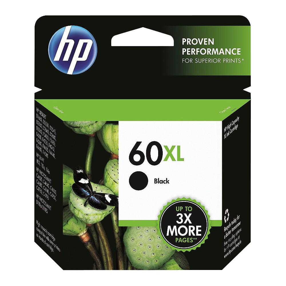 HP 60XL Single Ink Cartridge - Black (CC641WN#140) Promos