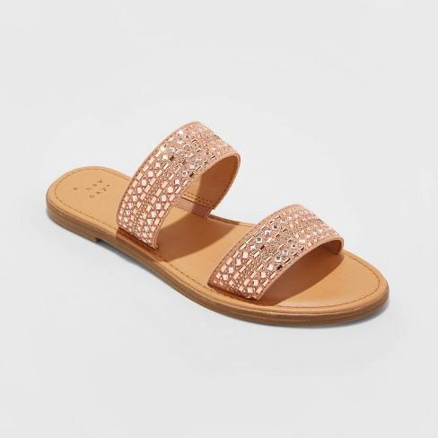 Women's Kersha Embellished Slide Sandals - A New Day™ - image 1 of 3