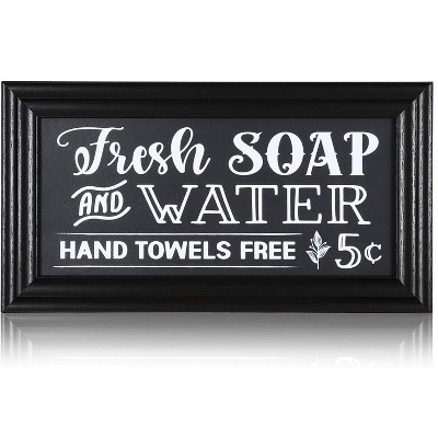 Juvale Vintage Wall Decoration, Bathroom Sign (14 x 7.5 in.)