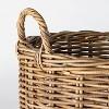 Decorative Round Rattan Basket Gray - Threshold™ designed with Studio McGee - image 3 of 4