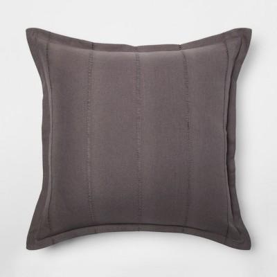 Gray Dobby Throw Pillow - Threshold™