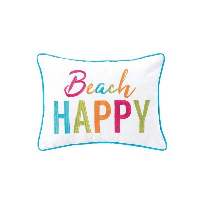 """C&F Home 12"""" x 16"""" Beach Happy Embroidered Throw Pillow"""