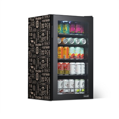 """NewAir """"Beers of the World"""" Custom Designed Freestanding 126 Can Beer Fridge with SplitShelf™, Chills Down to 37 Degrees"""