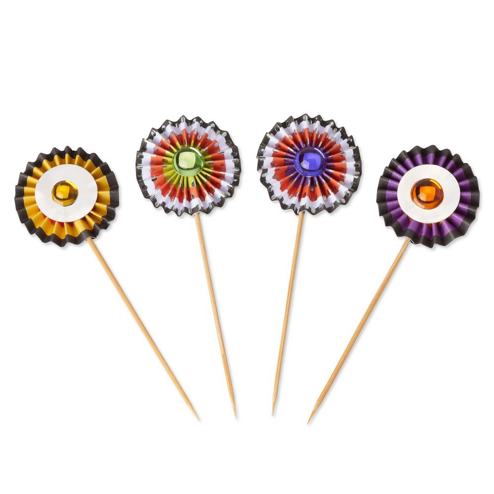 Image of 12ct Halloween Pinwheels Party Picks - PAPYRUS