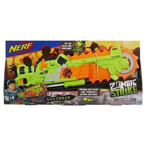 nerf zombie strike brainsaw blaster target