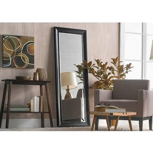 Peyton Leaner Floor Mirror Black Threshold