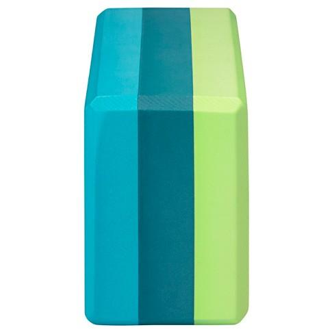 gaiam tri color yoga block in teal target