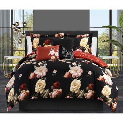 King 5pc Ethel Comforter Set Black - Chic Home Design