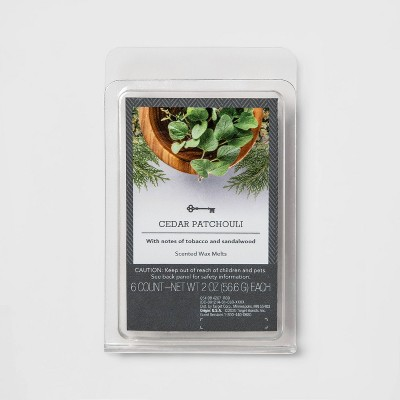 6ct Cedar Patchouli Scented Wax Melts - Threshold™