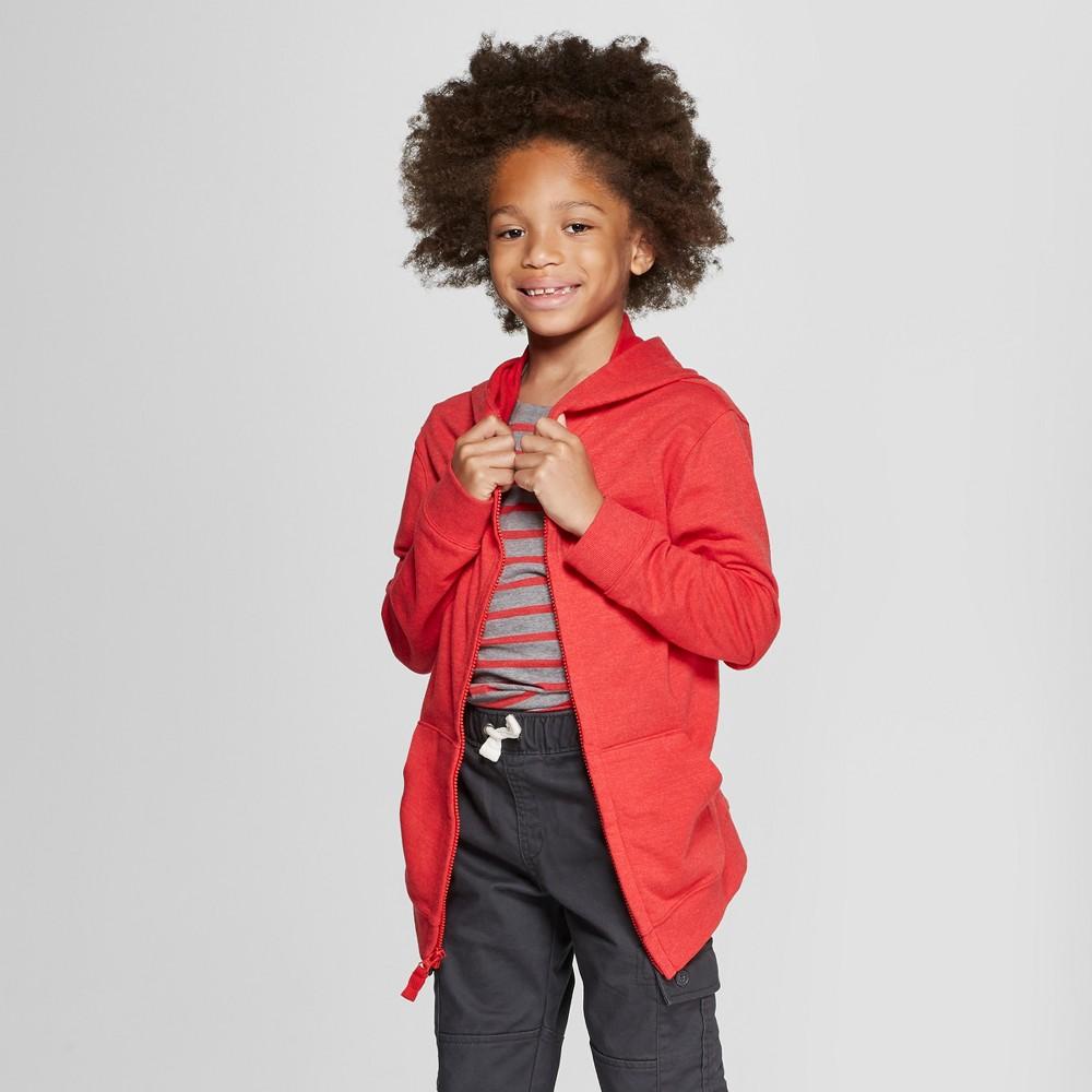 Boys' Long Sleeve Hooded Sweatshirt - Cat & Jack Red M