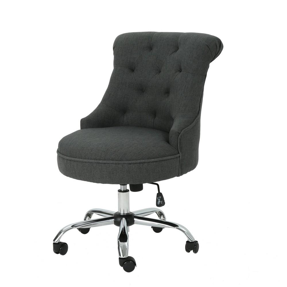Auden Home Office Fabric Desk Chair Dark Gray Christopher Knight Home