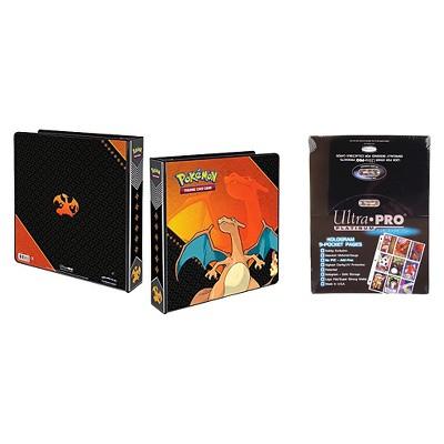 "Ultra Pro Pokémon Charizard 2"" 3-Ring Binder Card Album with 100 Ultra Pro Platinum 9-Pocket Sheets Card Game"