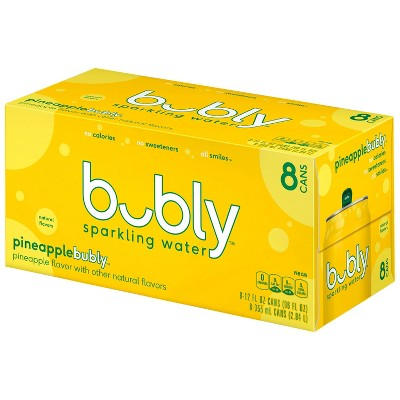 bubly Pineapple Sparkling Water - 8pk/12 fl oz Cans