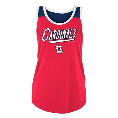MLB St. Louis Cardinals Women's Poly Rayon Tank Top - M