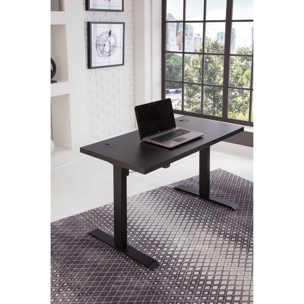 Sit Stand Adjustable Desk Black - Martin Furniture Sit Stand Adjustable Desk Black - Martin Furniture