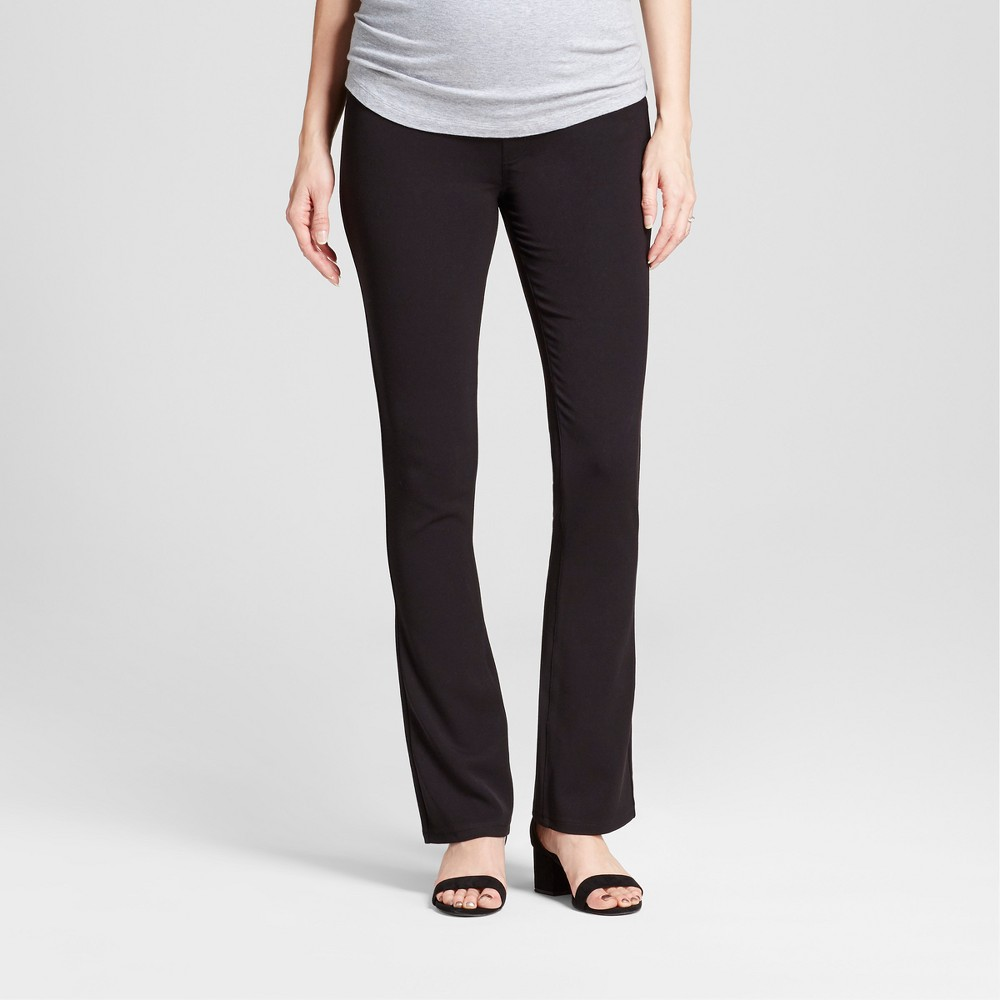 Maternity Crossover Panel Bootcut Trouser - Isabel Maternity by Ingrid & Isabel Black 2, Women's