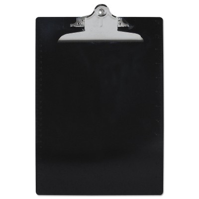 """Saunders Recycled Plastic Clipboards 1"""" Clip Cap 8 1/2 x 12 Sheets Black 21603"""