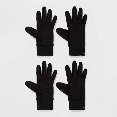 Boys' 2pk Spacedye Running Gloves - All in Motion™ Black