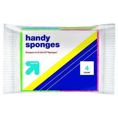 Handy Sponges 4pk - Up&Up™ (Compare to O-Cel-O™ Sponges)