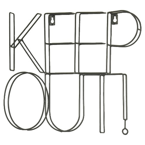"Keep Out Wire Wall Décor (14""x11"") Black - Pillowfort™ - image 1 of 1"