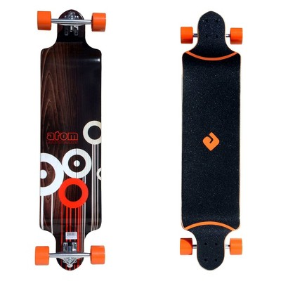 MBS 91048 Atom Drop-Through Longboard Cruiser 41-Inch Maple Deck Skateboarding, Orange